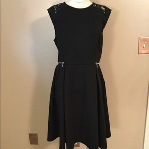 Dresses & Skirts - Mossimo Black Fit Flare Pin Up Girl goth dress LG